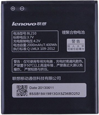 Заводской аккумулятор для Lenovo A770 E (BL-210, 2000mAh)