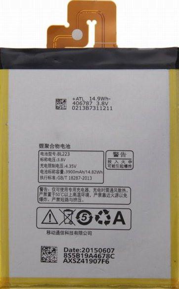 Заводской аккумулятор для Lenovo VIBE Z2 PRO (BL-223, 3900mAh)