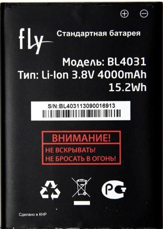 Заводской аккумулятор для Fly IQ4403 (BL4031, 4000 mah)
