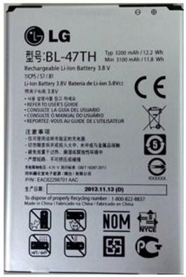Заводской аккумулятор для LG D838 (BL-47TH, 3200mAh)