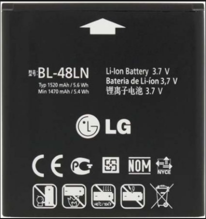 Заводской аккумулятор для LG P725 (BL-48LN, 1520mAh)