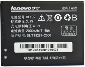 Заводской аккумулятор для Lenovo A388T (BL-192, 2000mAh)