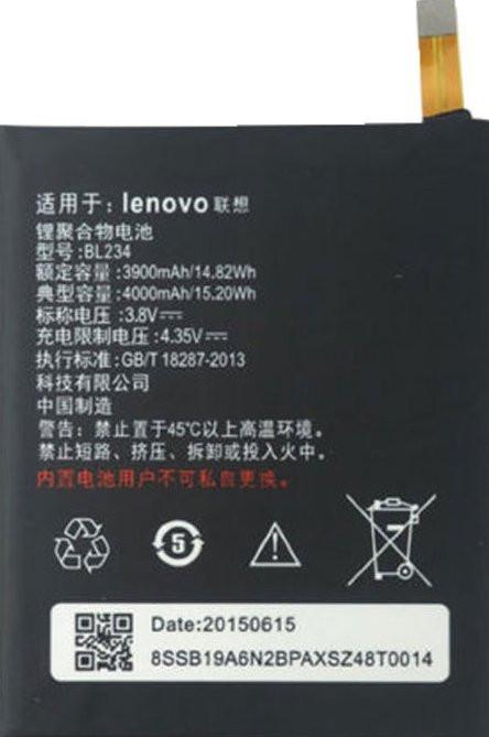 Заводской аккумулятор для Lenovo Vibe P1m (BL-234, 4000mAh)