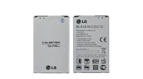 Заводской аккумулятор для LG D390 (BL-41A1H, 2100 мAч)
