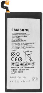 Заводской аккумулятор для Samsung Galaxy S6 G920F (EB-BG920ABE, 2550mah)
