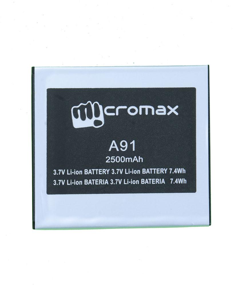 Заводской аккумулятор для Micromax A91 Ninja (2500 мАч)