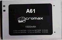 Заводской аккумулятор для Micromax A61 Bolt (1850 мАч)