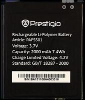 Заводской аккумулятор для Prestigio MultiPhone 5501 Duo (PAP5501, 2100mah)