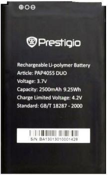 Заводской аккумулятор для Prestigio MultiPhone 4055 Duo (PAP4055 Duo, 2500mah)