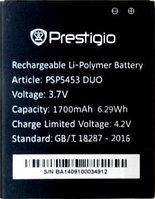 Заводской аккумулятор для Prestigio MultiPhone 5453 Duo (PSP5453 Duo, 1700mah)