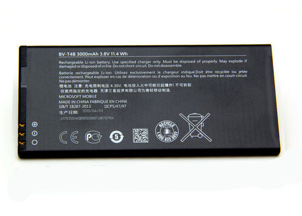 Заводской аккумулятор для Nokia Lumia 640 XL (BV-T4B, 3000 mAh)
