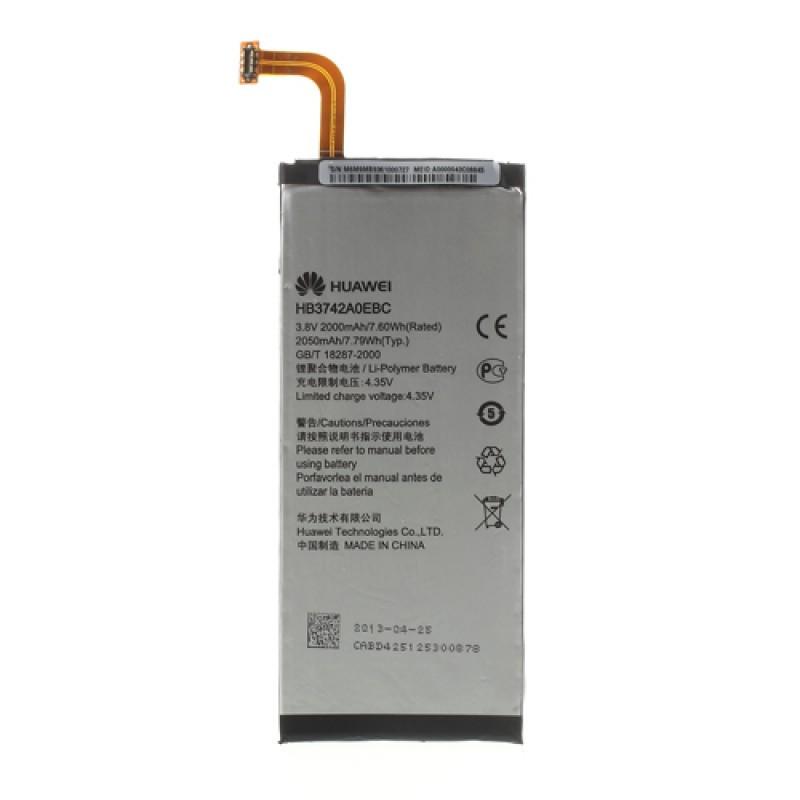 Заводской аккумулятор для Huawei Ascend P6 (HB3742AOEBC, 2000 mah)