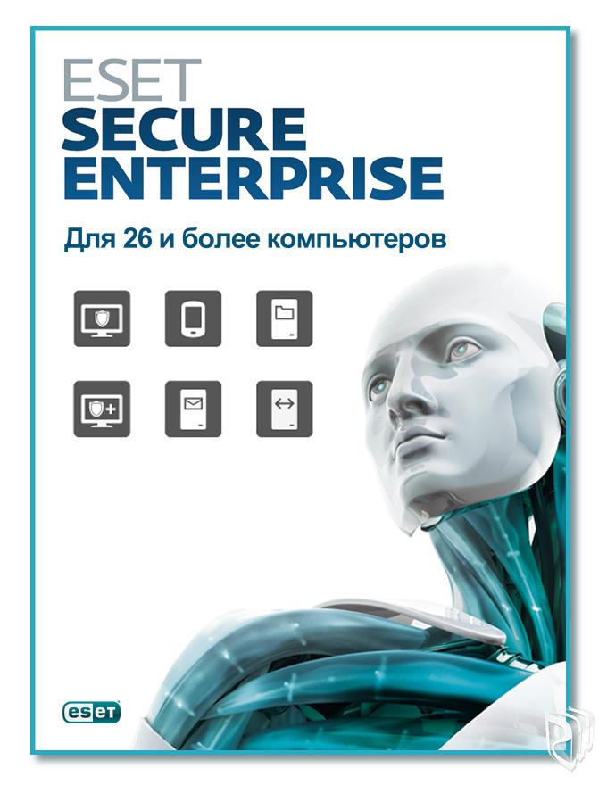 ESET NOD32 Secure Enterprise newsale для 27 пользователей, лицензия на 1 год