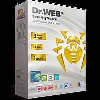 Антивирус Dr.Web Security Space GOLD 1 ПК 3 года + 3 месяца в подарок