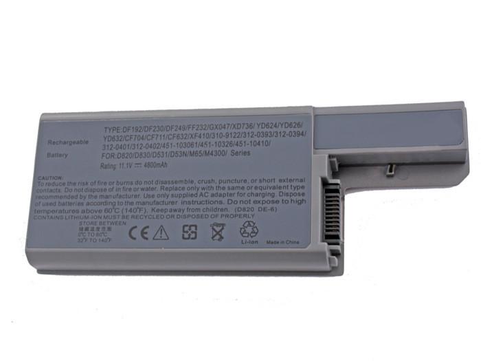 Аккумулятор для ноутбука Dell D820 (11.1V 4800 mAh)