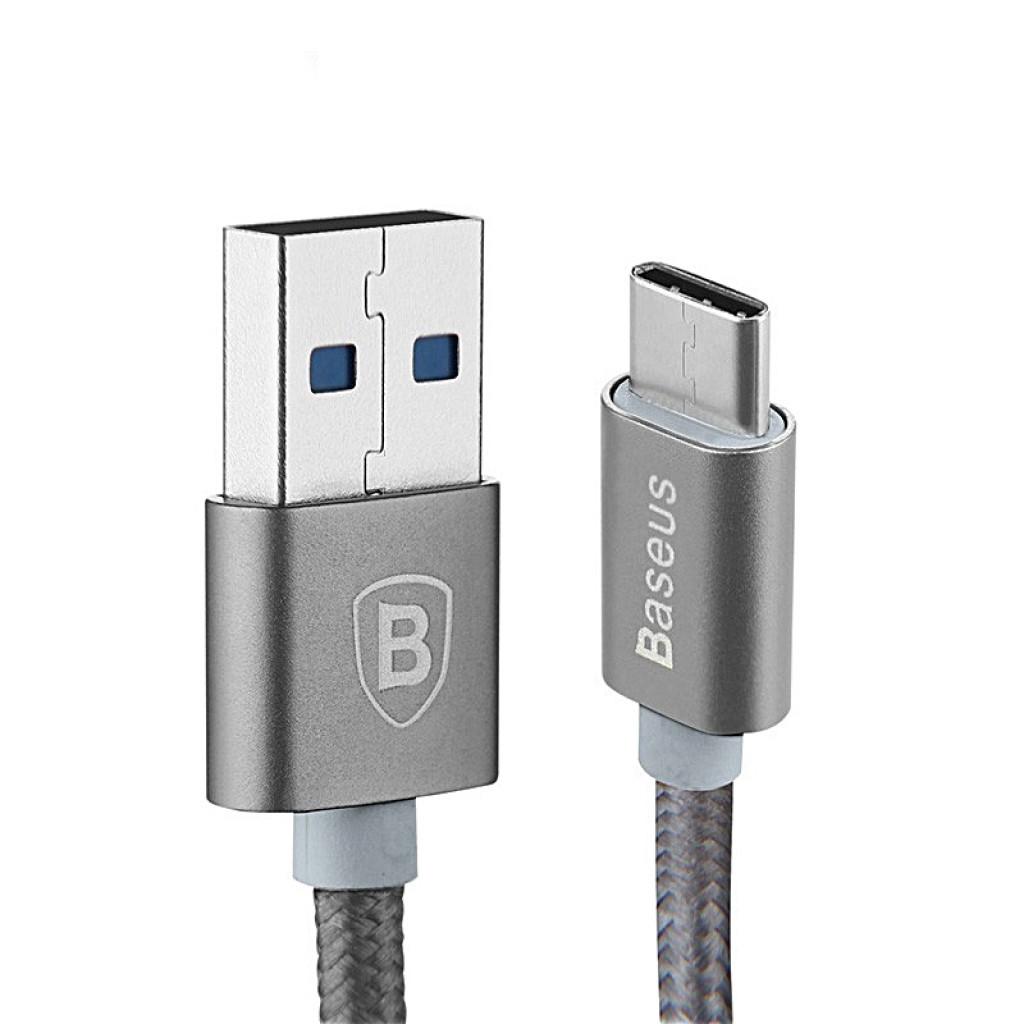 Type-C кабель Baseus Sharp Series для One Plus 3 (серый)