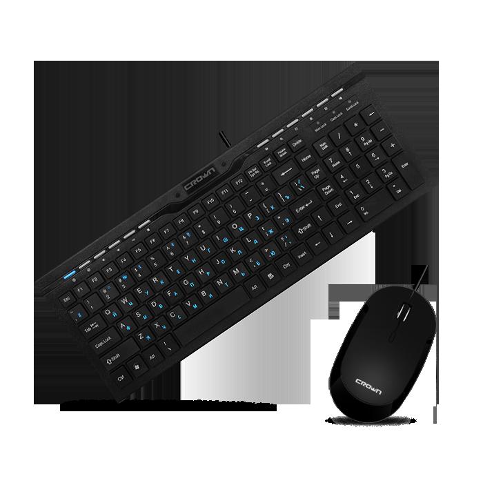 Комплект клавиатура и мышь Crown CMMK-855 - фото 1