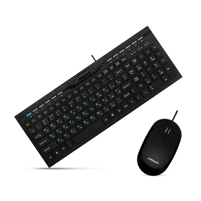 Комплект клавиатура и мышь Crown CMMK-855 - фото 6