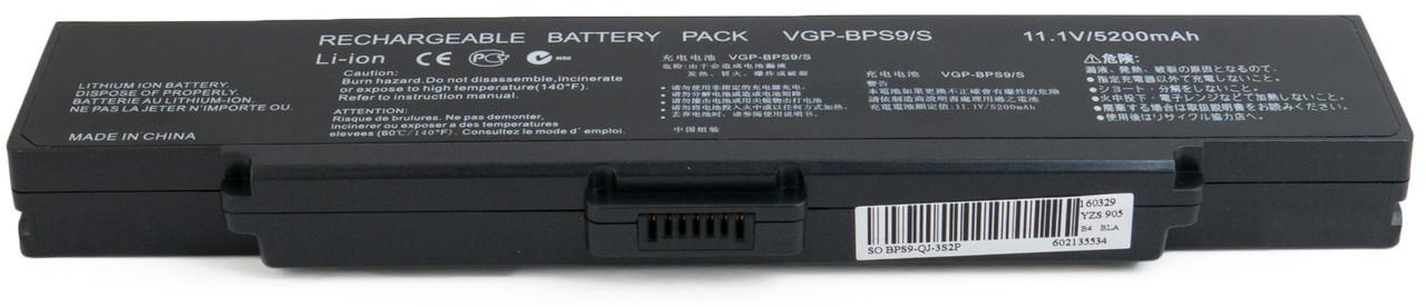 Аккумулятор для ноутбука Sony VAIO VGN-CR323 (11.1V 4400 mAh)