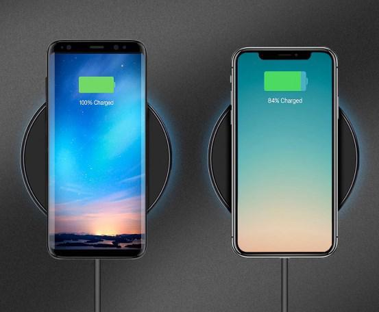 Беспроводное зарядное устройство Hoco CW6 для Samsung Galaxy S8 Plus G955F (черный) - фото 4