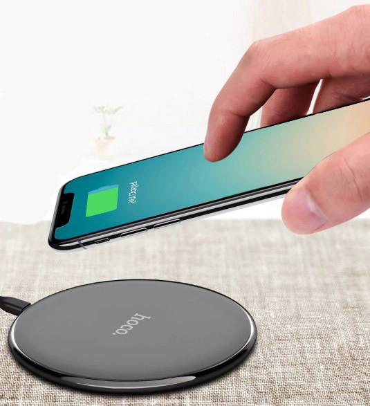Беспроводное зарядное устройство Hoco CW6 для Samsung Galaxy S8 Plus G955F (черный) - фото 5