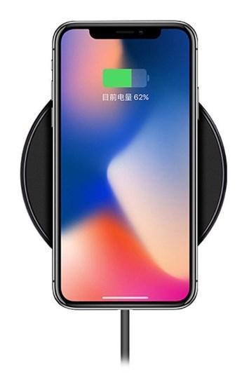 Беспроводное зарядное устройство Hoco CW6 для Samsung Galaxy S8 Plus G955F (черный) - фото 7