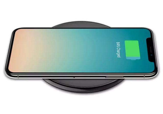 Беспроводное зарядное устройство Hoco CW6 для Samsung Galaxy S8 Plus G955F (черный) - фото 9