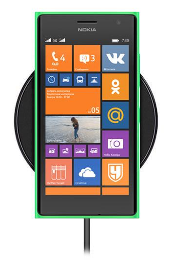 Беспроводная зарядка для Nokia Lumia 735 (черный)