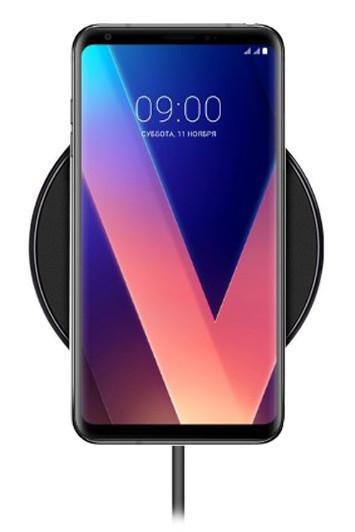 Беспроводная зарядка для LG V30 (черный)