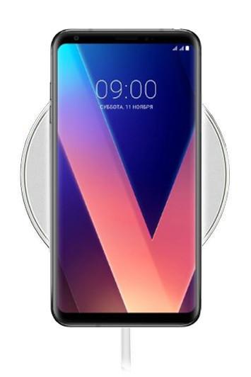 Беспроводная зарядка для LG V30 Plus (белый)