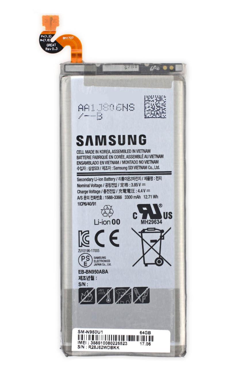 Заводской аккумулятор для Samsung Galaxy Note 8 N950 (EB-BN950ABE, 3300 mah)