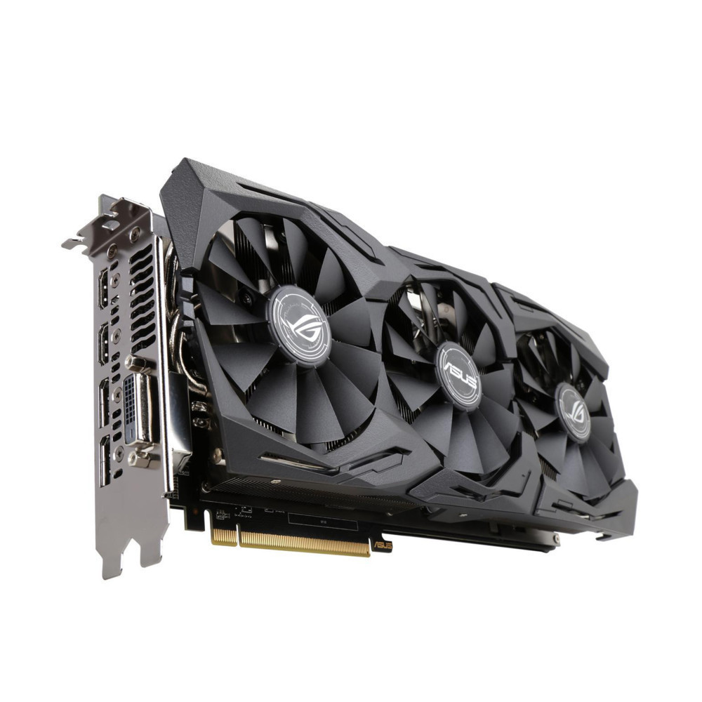 Видеокарта ASUS AMD Radeon RX 580 8Gb 256bit GDDR5 DVI HDMI DP HDCP ROG-STRIX-RX580-O8G-Gaming