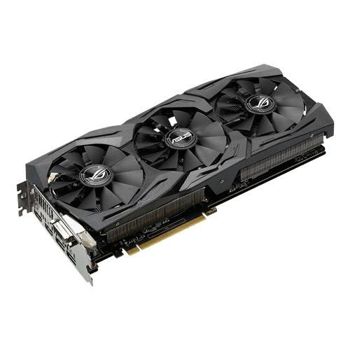 Видеокарта ASUS GeForce GTX1070Ti 8GB 256bit 1xDVI 2xHDMI 2xDP ROG-STRIX-GTX1070TI-A8G-GAMING Частота памяти 8008 MHz  Digital Max
