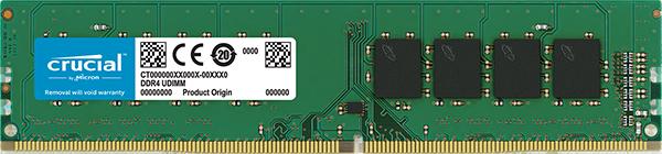 Оперативная память 4Gb DDR4 2400MHz Crucial CT4G4DFS824A PC4-19200 Retail