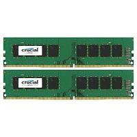 Оперативная память 16GB KIT (2x8Gb) DDR4 2400MHz Crucial CL17 SR x8 Unbuffered DIMM 288pin CT2K8G4DFS824A