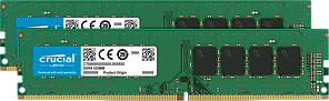 Оперативная память 16GB KIT (2x8Gb) DDR4 2666MHz Crucial PC4-21300 1.2V CT2K8G4DFS8266