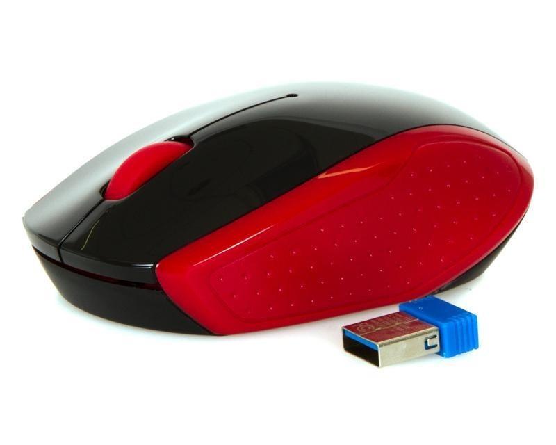 Оптическая беспроводная мышь HP 2HU82AA, 200 Empress Red, 1000 dpi, USB, 2.4 ГГц, красный