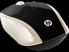 Оптическая беспроводная мышь HP 2HU83AA, 200 Silk Gold, 1000 dpi, USB, 2.4 ГГц, золотистый