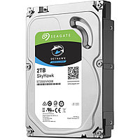 """Жесткий диск для видеонаблюдения 2Tb Seagate SkyHawk SATA3 3.5"""" 64Mb ST2000VX008. Диски выдерживают высокие рабочие нагрузки, отличаются низким"""