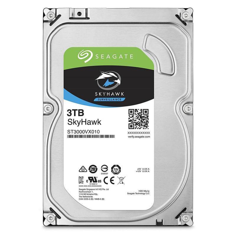 """Жесткий диск для видеонаблюдения 3Tb Seagate SkyHawk SATA3 3.5"""" 64Mb ST3000VX010. Диски выдерживают высокие рабочие нагрузки, отличаются низким"""