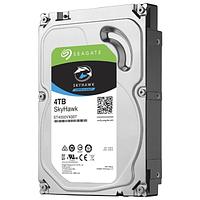 """Жесткий диск для видеонаблюдения 4Tb Seagate SkyHawk SATA3 3.5"""" 64Mb ST4000VX007. Диски выдерживают высокие рабочие нагрузки, отличаются низким"""
