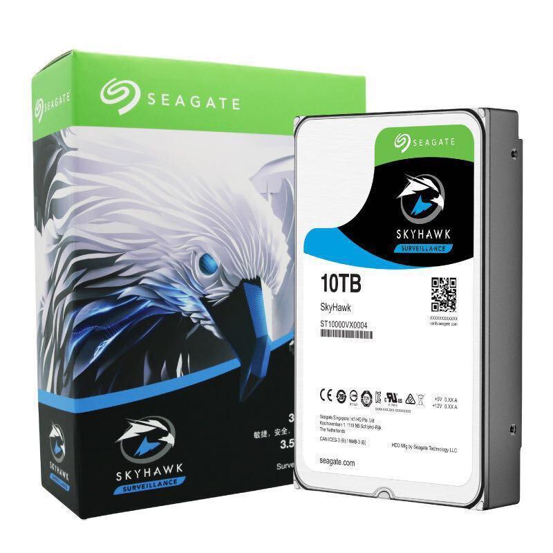"""Жесткий диск для видеонаблюдения 10Tb Seagate SkyHawk SATA 6Gbit/s 3.5"""" 7200 rpm 256Mb ST10000VX0004. Диски выдерживают высокие рабочие нагрузки,"""