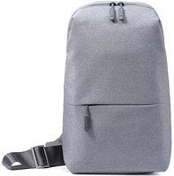 Многофункциональный рюкзак, Xiaomi, Urban Leisue Chest ZJB4032CN/ZJB4070GL, Органайзер, 2 внутренних отделения, Высококачественный нейлон, Серый