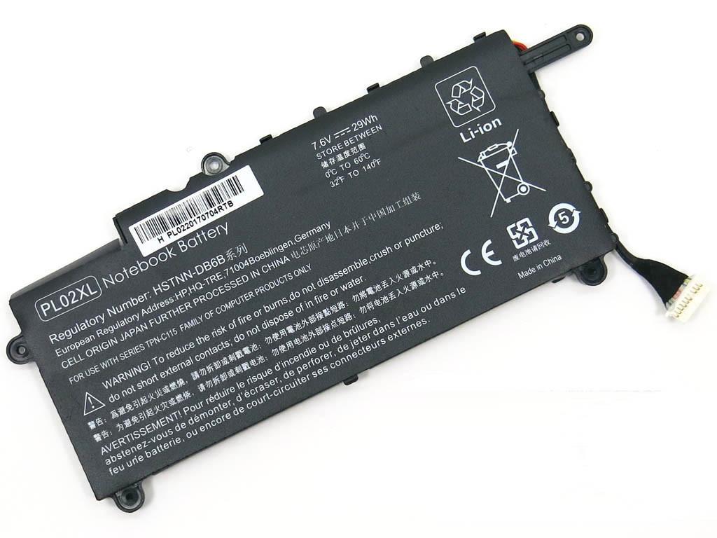 Аккумулятор для ноутбука HP 11-N X360, PL02XL (7.6V, 2500 mAh)