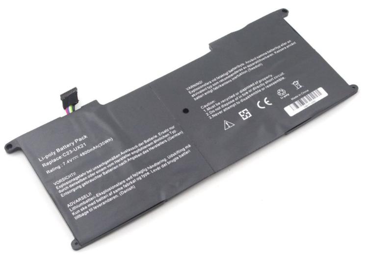 Аккумулятор для ноутбука Asus Zenbook UX21, C23-UX21 (7.4V, 4800 mAh) Original