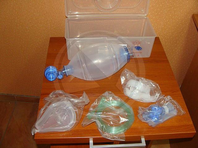 Набор ручной дыхательной реанимации (АМБУ) силиконовый - фото 2