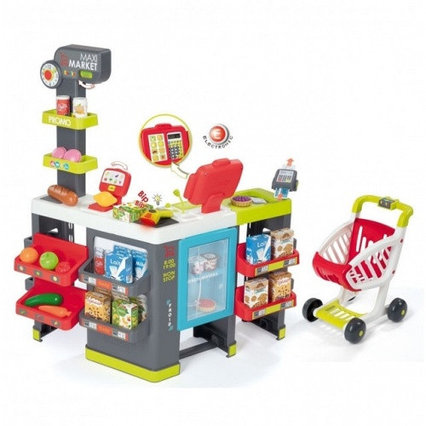 Детский супермаркет MAXI Market с тележкой, св, зв, 50 акс., 83x59,6x89,6 см, 1/1