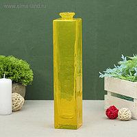 """Ваза """"Нарцисс"""" жёлтая, прозрачная 24,5х5,5х5,5см, 0,45л"""
