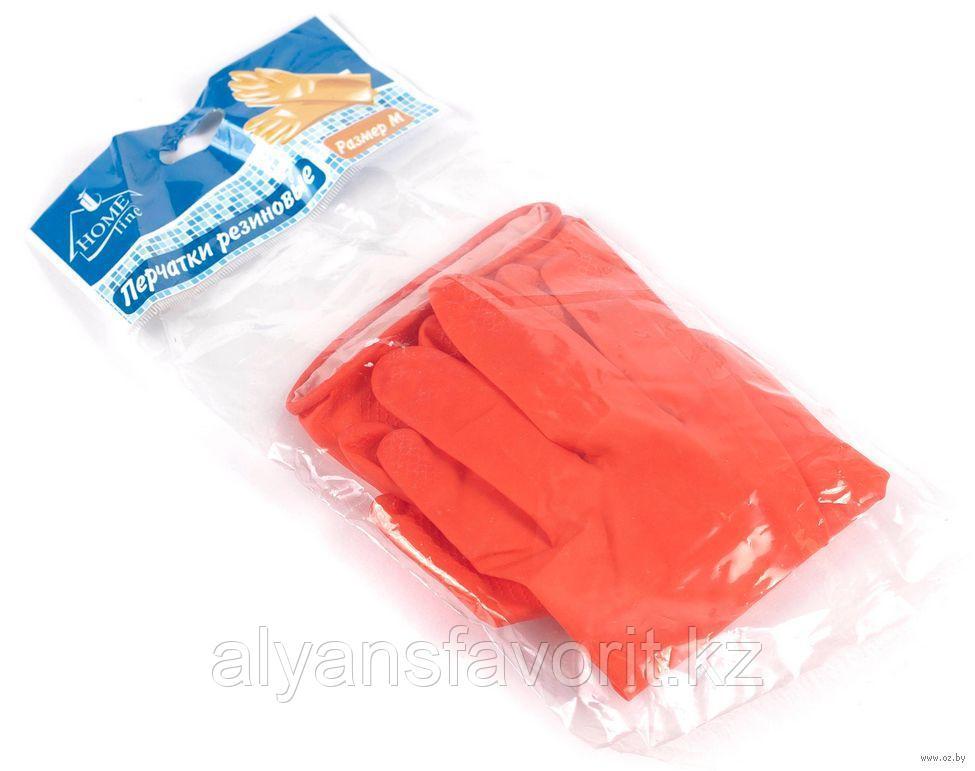 Перчатки резиновые (хозяйственные), красные