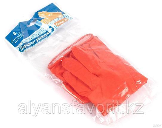 Перчатки резиновые (хозяйственные), красные, фото 2